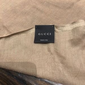 GUCCI Other - AUTHENTIC GUCCI SHAWL AND SCARF GOLD COLOR